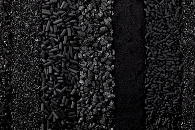 Некоторые виды активированного угля.